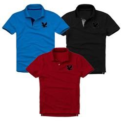 Áo thun nam logo mẫu mới Combo 3 áo Xanh dương Đen Đỏ đô XSAK