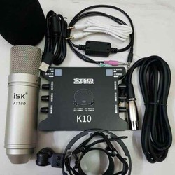 COMBO THU ÂM MIC ISK AT100 -XOX K10 và dây MA2