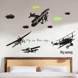 Decal dán tường trang trí quán , phòng vé máy bay, cửa hàng du lịch, homestay sang trọng độc đáo