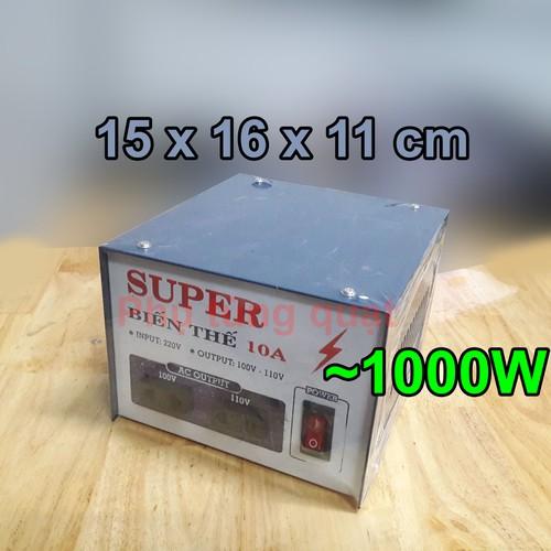 Biến thế điện 10a - 220v ra 100v hoặc 110v cục ổn áp biến áp chuyển nguồn đổi điện thế hiệu super hoặc lioa