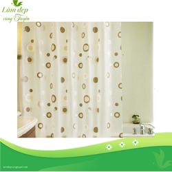 Rèm cửa nhà tắm vải PEVA không thấm nước họa tiết vòng tròn