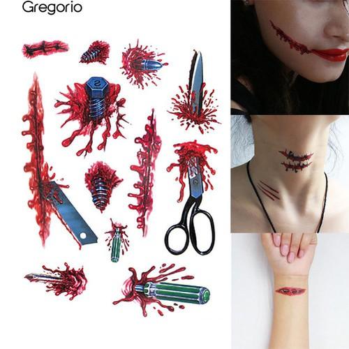 Hình dán máu giả dùng để hóa trang halloween