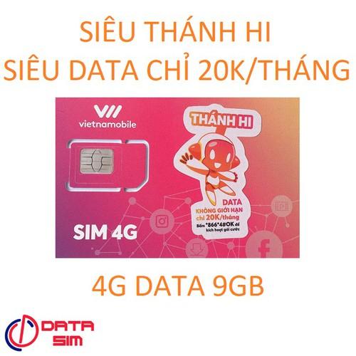 Sim 4g vietnamobile thánh hi chỉ 20k mỗi tháng-5k