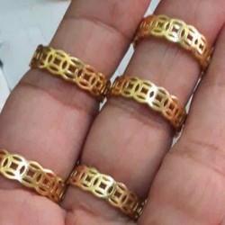 Nhẫn kim tiền đồng nguyên chất