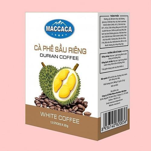 Cà phê sầu riêng maccaca_ durian coffee hộp 240gr