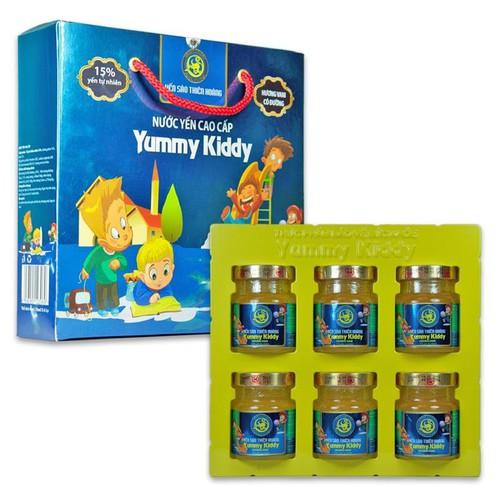 Hộp nước yến thiên hoàng yummy kiddy 15 phần trăm yến tổ cho trẻ em