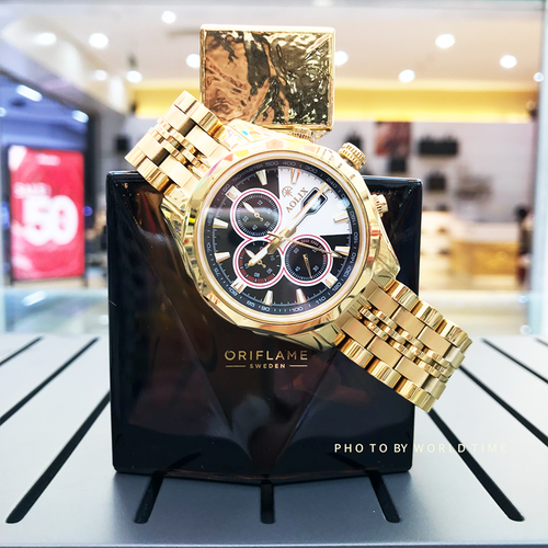Đồng hồ nam aolix al7048g- 6 kim [full box] chính hãng, mặt sapphire chống trầy xước, chống nước, bảo hành 3 năm.
