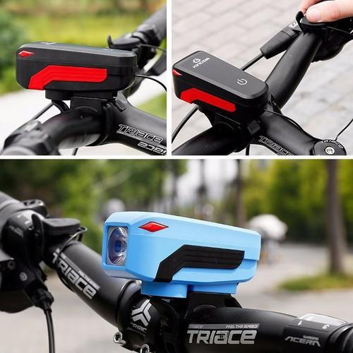 Đèn xe - đèn xe đạp 5 chế độ + cảm ứng + chuông + chống nước