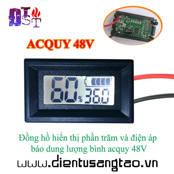 Đồng hồ hiển thị phần trăm và điện áp báo dung lượng bình acquy 48V