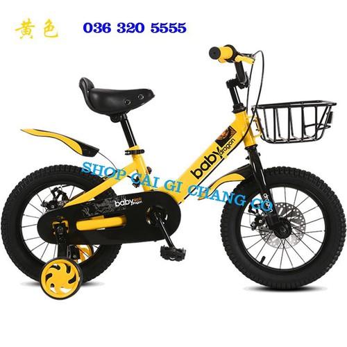 Xe đạp 4 bánh dragon cho trẻ em  từ 5 tuổi đến 8 tuổi hàng cao cấp size 18inch
