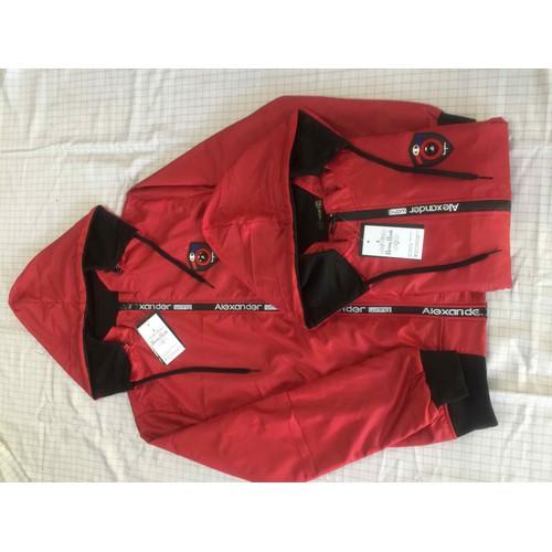 Áo khoác dù dày logo-nón tháo rời cao câp