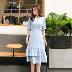 Đầm Đuôi Cá Tầng Bèo Xanh Nhẹ Nhàng