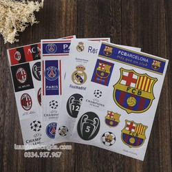 Decal dán các logo đội bóng