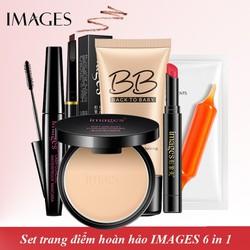 Set 6 trang điểm IMAGES Kem BB che khuyết điểm + Phấn phủ kiềm dầu + Chì kẻ mày siêu nét + Mascara chuốt mi + Son siêu mịn môi + Mặt nạ dưỡng ẩm AH-BTD34