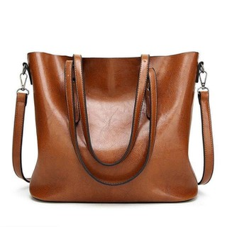 Túi xách tay đeo vai nữ Hàn Quốc size lớn size 32x29x12cm, Màu sắc Da bò - Đen - Đỏ - SLon thumbnail