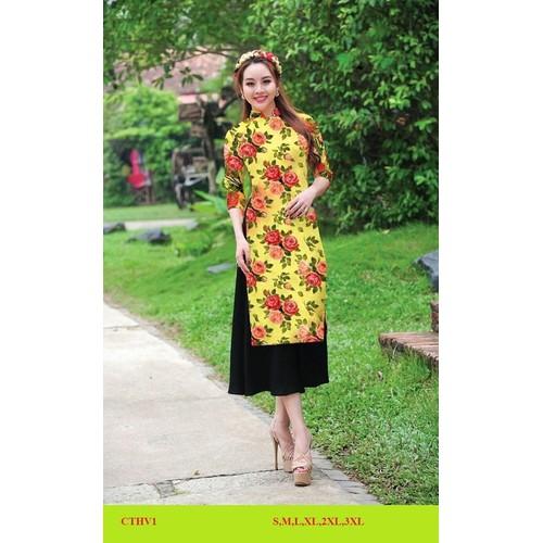 Bộ áo dài cách tân lụa tằm đủ size áo dài + váy - 12045352 , 19664470 , 15_19664470 , 350000 , Bo-ao-dai-cach-tan-lua-tam-du-size-ao-dai-vay-15_19664470 , sendo.vn , Bộ áo dài cách tân lụa tằm đủ size áo dài + váy