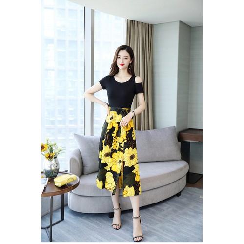 Đầm voan xòe nữ thời trang thiết kế