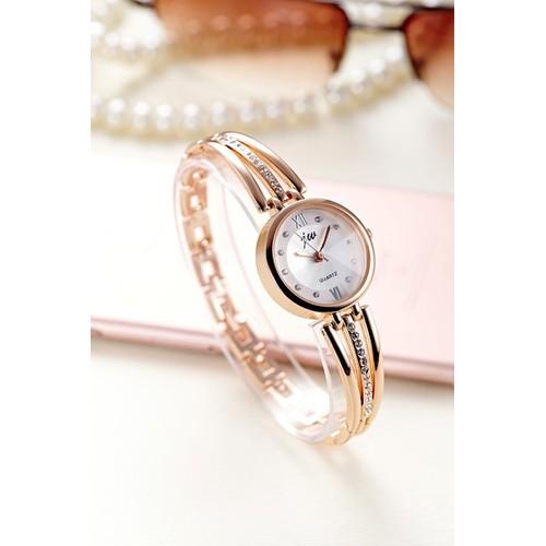 Hot 2019 đồng hồ nữ jingshi thời trang hàn quốc dây kim loại kính chống xước cao cấp