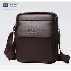 Túi đeo chéo nam thời trang da bò FANKE, túi đeo chéo nam đựng ipad KT 28x24x10cm, Màu sắc: Nâu – Đen