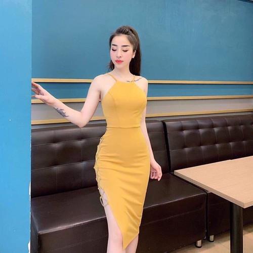 Đầm ôm phổ biến gợi cảm váy đầm cao cấp hè 2019