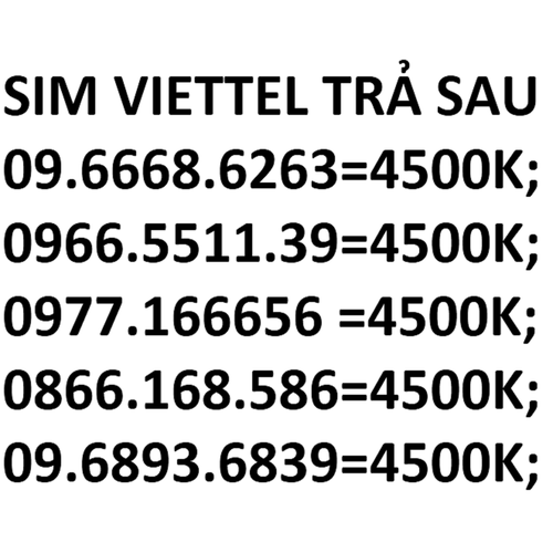 Sim 10 số viettel - 12057931 , 19683007 , 15_19683007 , 4500000 , Sim-10-so-viettel-15_19683007 , sendo.vn , Sim 10 số viettel