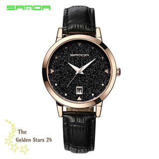 đồng hồ nữ dây da - đồng hồ nữ dây da Sm206 thumbnail