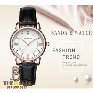 đồng hồ nữ dây da - đồng hồ nữ dây da S604 thumbnail