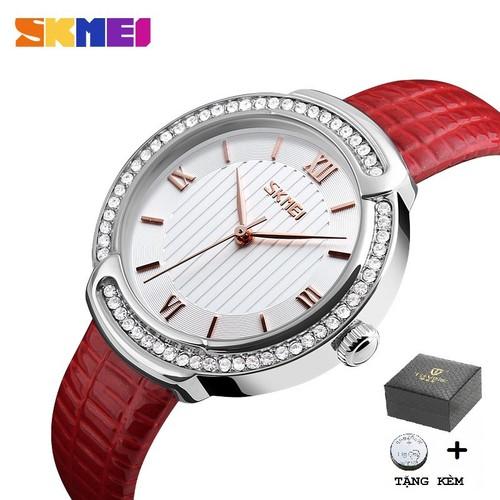 Đồng hồ nữ skmei 9143 chính hãng - mặt đính đá cao cấp