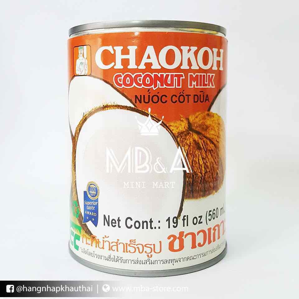 Nước cốt dừa Thái Chaokoh giảm cân Keto lon 560ml siêu ngon