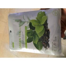 COMBO 10 Miếng Mặt nạ dưỡng da trà xanh Green Tea Mask Amisilk Korea - 921