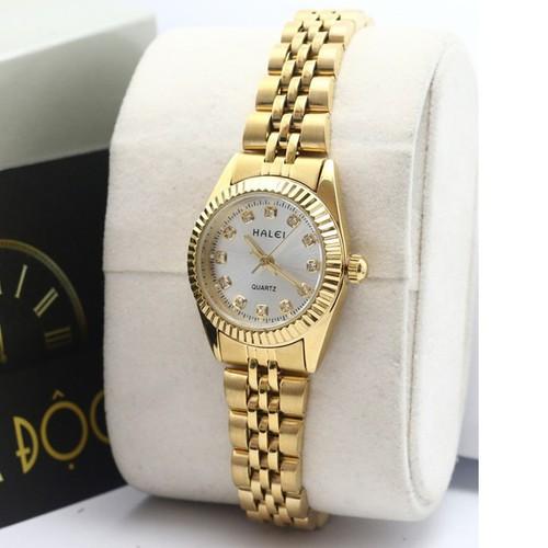 Đồng hồ nữ chống nước dây vàng mặt trắng cực đẹp - 13109938 , 21180351 , 15_21180351 , 398000 , Dong-ho-nu-chong-nuoc-day-vang-mat-trang-cuc-dep-15_21180351 , sendo.vn , Đồng hồ nữ chống nước dây vàng mặt trắng cực đẹp