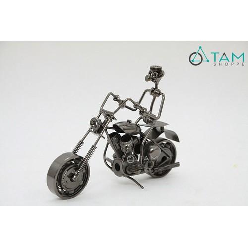 Mô hình xe máy bằng sắt trang trí vintage số 28