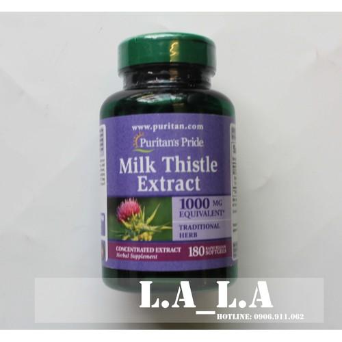 180 viên  uống bổ gan milk thistle 1000mg puritan pride 180 viên của mỹ - bổ gan
