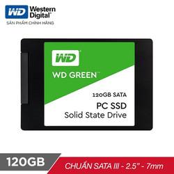 Ổ cứng SSD WD Green 120GB 3D NAND Sata III 2.5 inch 7mm - WDS120G2G0A - Chính hãng - SSDWD120