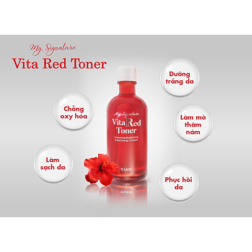 Nước hoa hồng trắng da my signature vita red toner