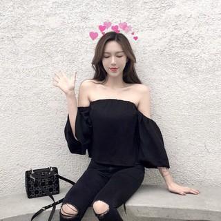 Áo Trễ Vai Tay Xuông Thời Trang - j-444 thumbnail