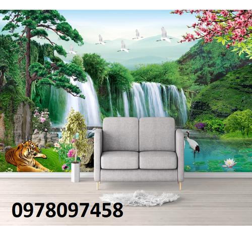 Gạch tranh thác nước con hổ