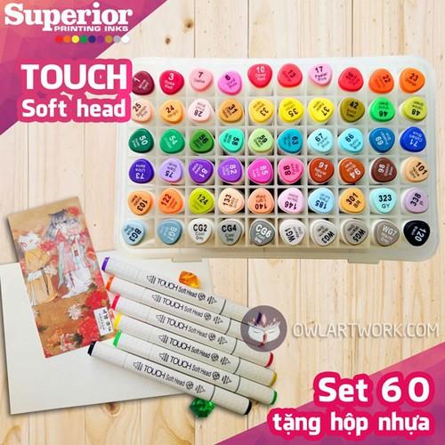 [Chính hãng] bộ bút marker touch soft head set 60 màu - tặng hộp - 12065627 , 19693959 , 15_19693959 , 620000 , Chinh-hang-bo-but-marker-touch-soft-head-set-60-mau-tang-hop-15_19693959 , sendo.vn , [Chính hãng] bộ bút marker touch soft head set 60 màu - tặng hộp