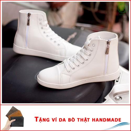 Giày thể thao nam cao cổ da sần màu trắng cổ có khóa - đế chắc chắn, thiết kế trẻ trung, sang trọng- hợp thời trang- dễ phối với nhiều loại trang phục khác nhau, đảm bảo chất lượng và giá tốt nhận hàn - 19180841 , 19709322 , 15_19709322 , 215000 , Giay-the-thao-nam-cao-co-da-san-mau-trang-co-co-khoa-de-chac-chan-thiet-ke-tre-trung-sang-trong-hop-thoi-trang-de-phoi-voi-nhieu-loai-trang-phuc-khac-nhau-dam-bao-chat-luong-va-gia-tot-nhan-hang-thanh-toan