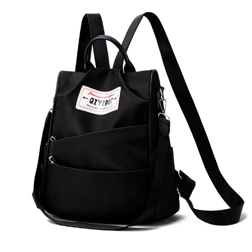 Balo nữ thời trang vải dù siêu chống thấm al4 đựng vừa laptop 13.3 inch, giấy a4, 2 màu đỏ đen tinh tế [tặng quai đeo tiện dụng]