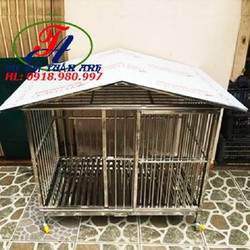 Chuồng chó inox có mái che CCTA-60100MC