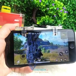 Bộ 2 nút bấm cơ T12 kim loại trong suốt Hỗ Trợ Chơi Game PUBG Mobile Ros Mobile dc3655