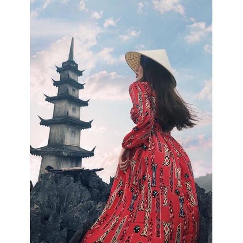 Váy thổ cẩm đỏ dáng dài - 12070433 , 19700761 , 15_19700761 , 250000 , Vay-tho-cam-do-dang-dai-15_19700761 , sendo.vn , Váy thổ cẩm đỏ dáng dài