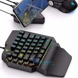 Bàn phím giả cơ FREE WOLF K15 chơi game Pubg Mobile Free Fire trên điện thoại máy tính bảng Laptop dc3640