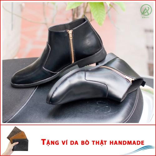 Giày chelsea boot nam cổ khóa da nhám màu đen - shop giày nam aroti- đế chắc chắn - mẫu thiết kế trẻ trung- phong cách - hợp thời trang, dễ phối với nhiều loại trang phục, luôn đảm bảo về chất lượng v