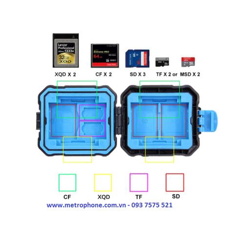 Hộp chống sốc đựng thẻ nhớ và sim hiệu puluz size nhỏ - 12074379 , 19706937 , 15_19706937 , 85000 , Hop-chong-soc-dung-the-nho-va-sim-hieu-puluz-size-nho-15_19706937 , sendo.vn , Hộp chống sốc đựng thẻ nhớ và sim hiệu puluz size nhỏ