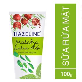 Sữa rửa mặt sáng da Hazeline Matcha-Lựu đỏ 100 g - 8934868128144