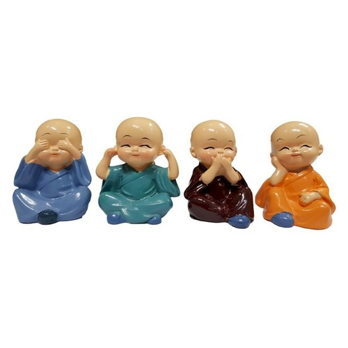 Bộ 4 tượng chú tiểu tứ không siêu ngộ nghĩnh
