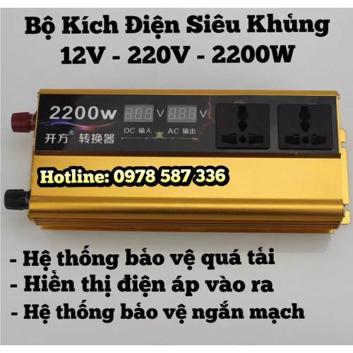 Máy kích điện 12v - 220v công suất 2200w - 12064405 , 19692483 , 15_19692483 , 1950000 , May-kich-dien-12v-220v-cong-suat-2200w-15_19692483 , sendo.vn , Máy kích điện 12v - 220v công suất 2200w