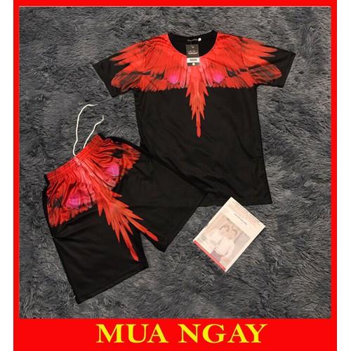 Đồ bộ nam bộ thể thao bộ hè cánh chim đỏ đen trắng bc88